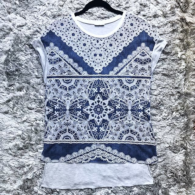 Zara Lace Pattern Top (S)