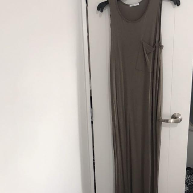 Zara maxi dress khaki