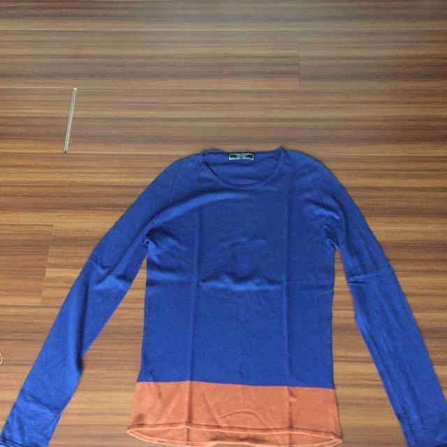 Zara sweater denim couture