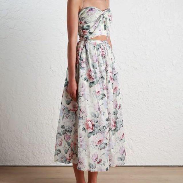 Zimmermann Jasper Tie Dress Size 0