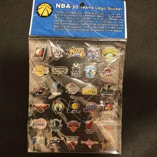 絕版NBA 球隊貼紙