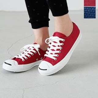 LF: Red Converse Jack Purcell Shoes