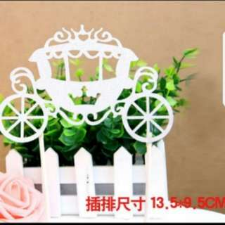 Carriage Birthday/wedding/party cake topper A002