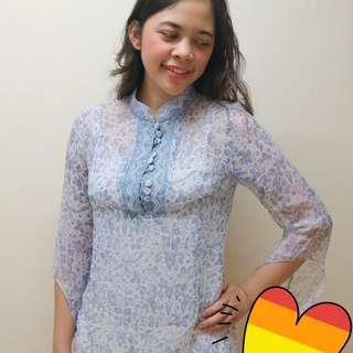 Betty Adam Blue Batik Blouse