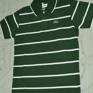 Lacoste polo shirt (classA) green stripe