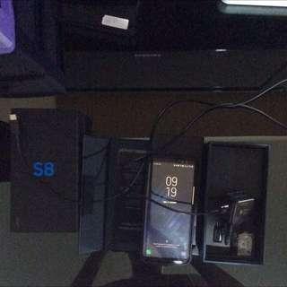 Samsung S8 SEIN 3 Minggu Black Fullset 99% With Bonus