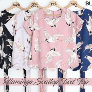 Flsmingo Scallop Tied Top