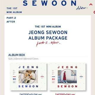 [NON-PROFIT G.O] Jeong Se Woon Sewoon After 1st Mini Album Part.02