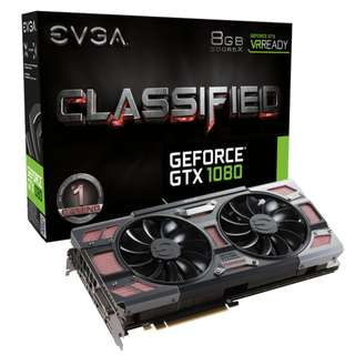 EVGA GeForce GTX 1080 CLASSIFIED GAMING, 08G-P4-6386-KR, 8GB GDDR5X, ACX 3.0 & RGB LED