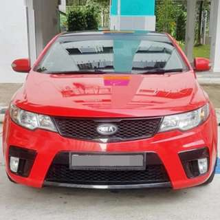 Installation Of Rims Protector Guard Done On Kia Koup