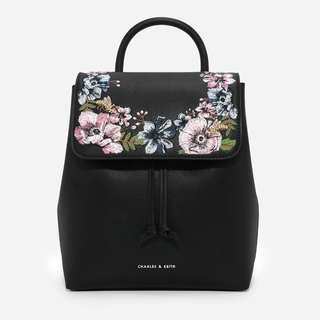 CHARLES AND KEITH FLORAL BACKPACK