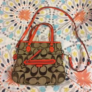 Coach two way bag