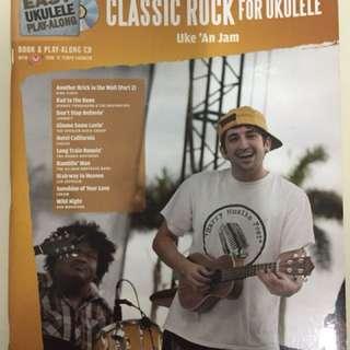 Ukulele book & play along cd: classic rock by Ike' An Jam