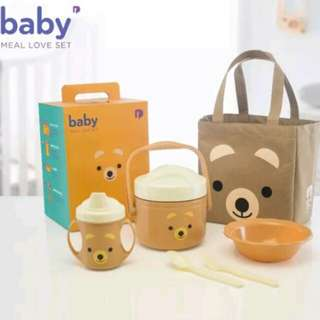Baby Meal Love Set - Bear