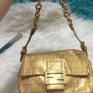 Fendi small gold bag 💯Authentic