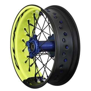 Alpina Tubeless Supermoto wheel set Husqvarna Husky