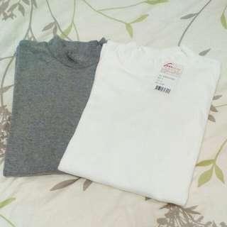 棉質半高領衫
