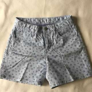 uniqlo kids star patterned shorts