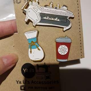MUST GO! Brand New Coffee Enamel Metal Pins