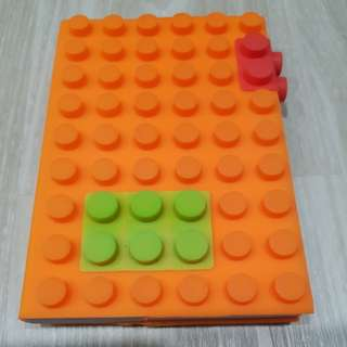 A6 Lego Block Note Book with Silicone Cover