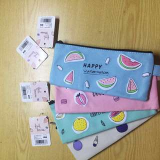 PASTEL MAKE UP POUCH, PENCIL CASE, ORGANIZERS