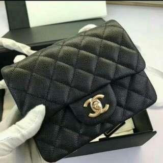 Chanel mini~17cm 💖荔枝皮😍原單~頂級👍