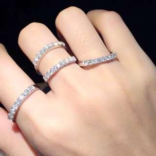 18K 白金鑽石戒指