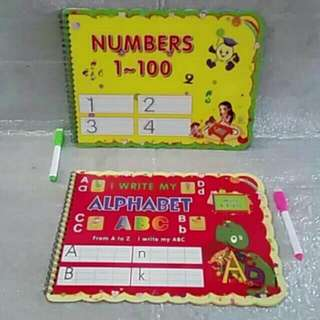 Numbers and Alphabet Write and Erase