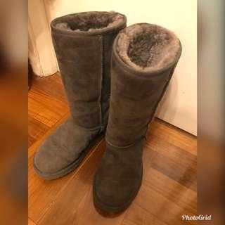 UGG 38 灰 中靴 毛毛鞋 boot 室下 $500