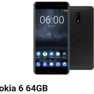 Nokia 6 4+64GB 黑色 100%全新