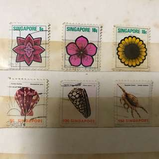 FLOWERS / SEA INSECT STAMPS
