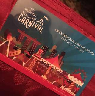 prudential marina bay carnival card