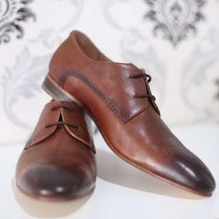 Sepatu pantofel kulit asli leather pantofel shoe