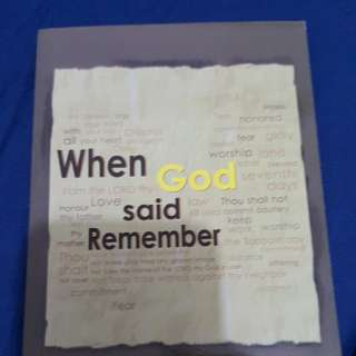 When God said Remember by Mark Finley