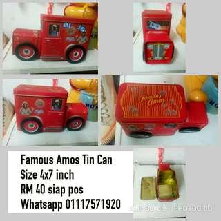 Car Toys Famous Amos Tin Can