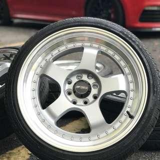 Work s1 17 inch tyre 70% sports rim myvi ikon