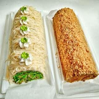 Mocca Nougat Roll Cake