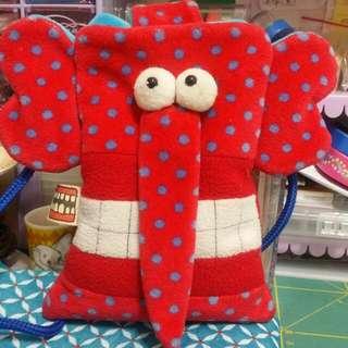 HO大象手作包 斜背 手機袋