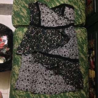 Dress kemben bunga abu