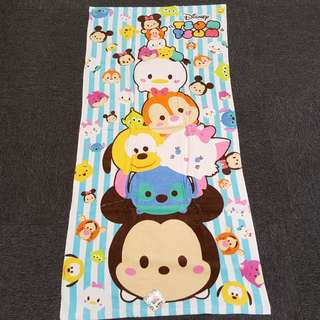 Disney Tsum Tsum Blue & White Strips Stacking Design Towel