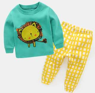 Boys Kids Cotton Pyjamas Sleeping Wear Nightwear