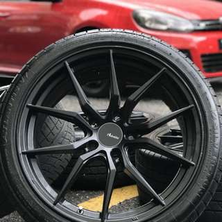 Original advanti 18 inch sports rim civic fb tyre 90%
