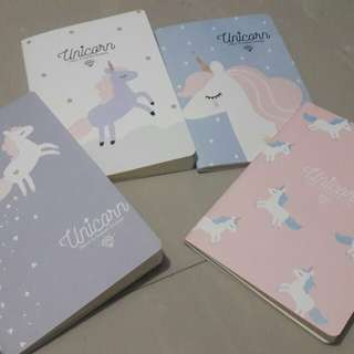 Unicorn Notebook available in 4 designs