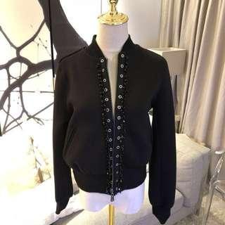 No.21 Embellished Jewel Baseball bomber jacket
