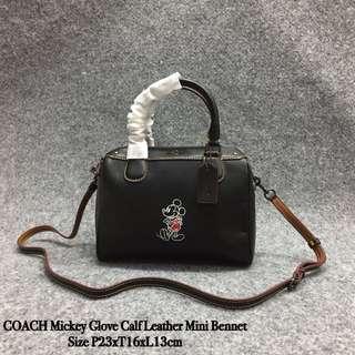 Coach Mickey Glove Calf Leather Mini