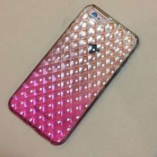 6plus / 6s plus Ombre Pink Jelly Case