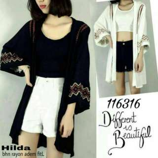 Cardigan hitam outer black