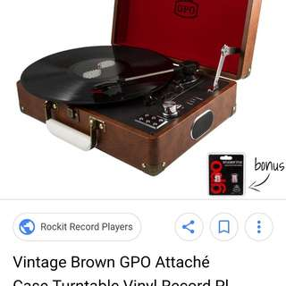 Portable record vinyl player