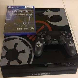 Playstation 4 Pro - Star Wars Battlefront II bundle (Limited Edition) 1TB, inclusive of Star Wars Battlefront II game