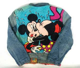 Vtg 1993 Mickey & Minnie Denim Jacket
